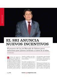 SRI anuncia nuevos incentivos. Edicion 217, mayo ... - Ekos Negocios