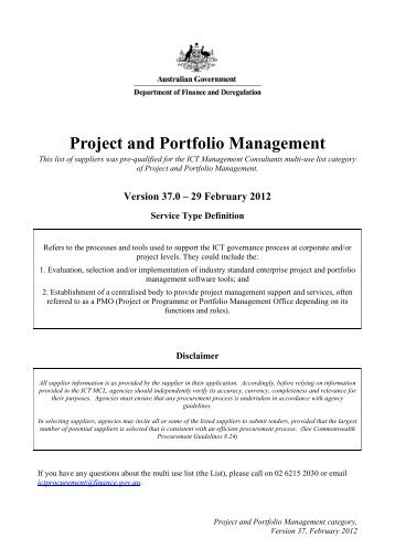 Management Consultants Multi Use List Suppliers of Project and ...