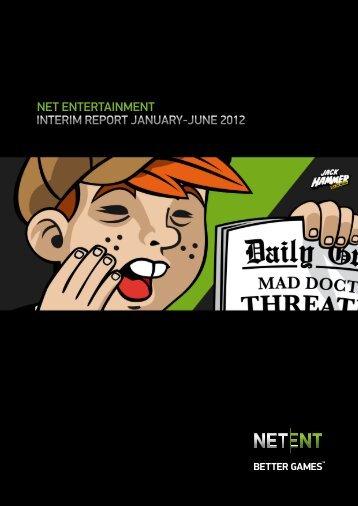 NET ENTERTAINMENT INTERIM REPORT JANUARY-JUNE 2012
