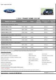 Cjenik Ford Transit kombi (PDF)