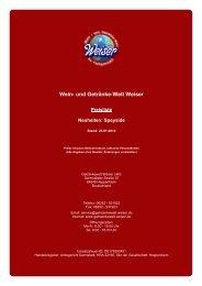 Preisliste für Neuheiten: Speyside - und Getränke-Welt Weiser