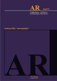 Revija 2007/2 v PDF - Fakulteta za arhitekturo - Univerza v Ljubljani
