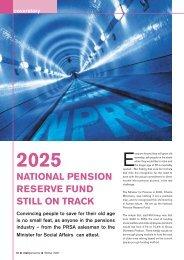 national pension reserve fund still on track - Irish Association of ...