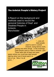 Ardwick Report - Greater Manchester Coalition of Disabled People