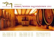 Herbst/Winter-Degustationen 2011