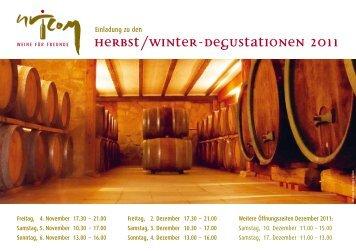 Herbst/Winter-Degustationen 2011