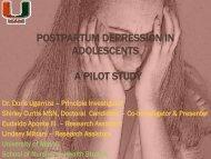 Postpartum Depression in Adolescents – A Pilot Study - IUPUI