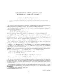 THE COHOMOLOGY OF PRO-p GROUPS WITH A POWERFULLY ...