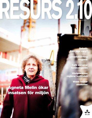 Agneta Melin ökar insatsen för miljön - SLU