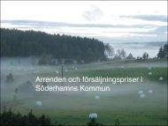 Arrenden och försäljningspriser i Söderhamns Kommun - CFL