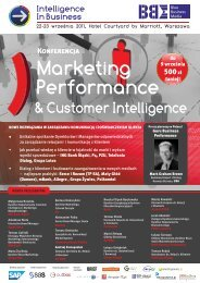 Marketing Performance & Customer Intelligence - Blue Business ...