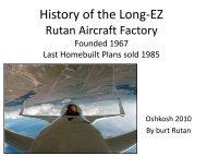 History of the Long-EZ & Rutan Aircraft Factory