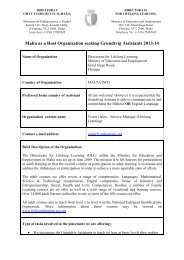 Malta as a Host Organisation seeking Grundtvig ... - Cmepius