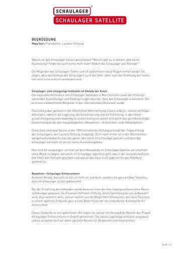 Pressetexte - Schaulager