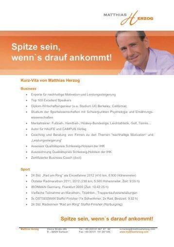 Vita Matthias Herzog Download [PDF, 248 kb]