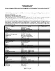 Preventive drug list for Health Reimbursement Medical Plan and ...