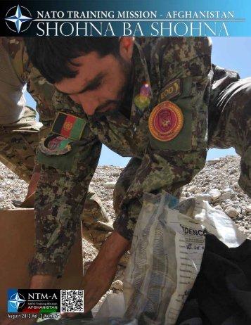 August 2012 Vol. 2/Num. 6 - NATO Training Mission Afghanistan