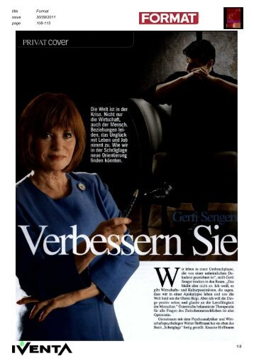 "Buch Schräglage"" fertig gestellt. Koautor Hoffmann - IVENTA"