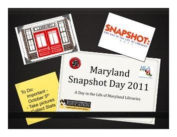 Presentation - Maryland Library Association