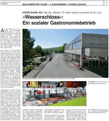 Mai 2013 Rundschau - Kantine Wasserschloss