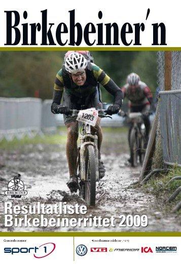 Resultatliste Birkebeinerrittet 2009 - Resultatservice - Birkebeiner.no