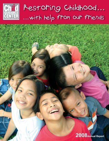 Annual Report 2008 - Child Guidance Center of Southern Connecticut