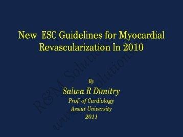 ESC Guidelines of Myocardial Revascularization ... - cardioegypt2011