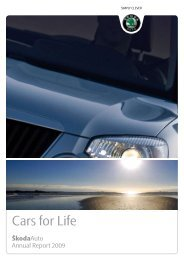 Annual Report 2009 - Skoda Auto