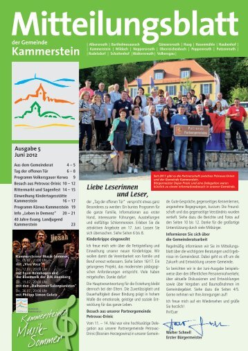 Ihre Gemeinde informiert - Gemeinde Kammerstein