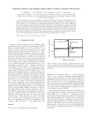 Nonlinear Electro- and Magneto-Optic Effects related to Bennett ...