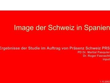Studie (pdf, 268 kb) - Präsenz Schweiz