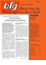 aktuell - bei der Bayerischen Finanzgewerkschaft