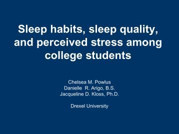 stress and sleep quality estimation with An estimated 50% of persons 55 years and older have some form of sleep   effect of mindfulness-based stress reduction on sleep quality:.