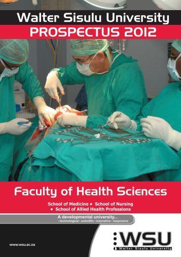 Faculty Prospectus 2012 - Walter Sisulu University