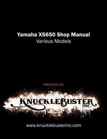xs650se supplement - Knucklebuster