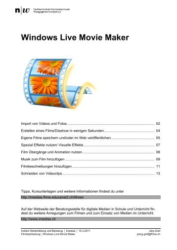 Anleitung Windows Live Movie Maker - Educanet2 - Portal der ...