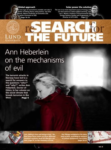 """ReSearch for the Future"" magazine (Pdf, 10 Mb) - Lund University"