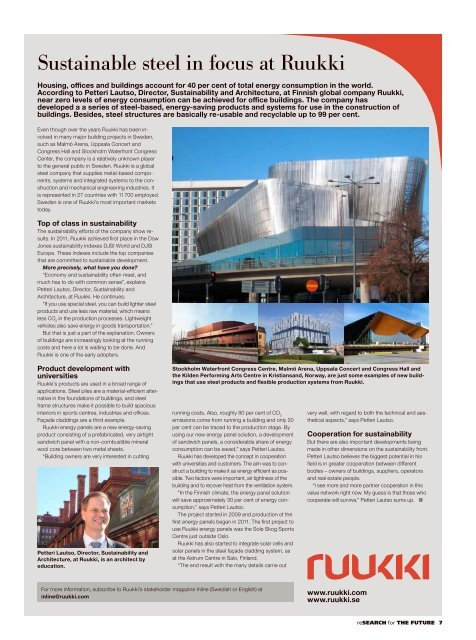 """""""ReSearch for the Future"""" magazine (Pdf, 10 Mb) - Lund University"""