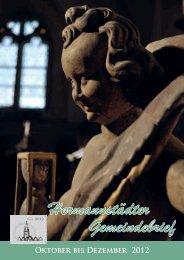 Oktober - Dezember 2012 - Evangelische Kirchengemeinde AB ...