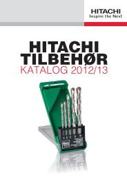 KATALOG 2012/13 - Hitachi Power Tools Finland Oy