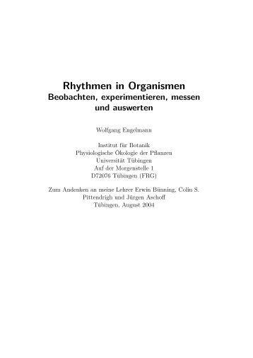 Rhythmen in Organismen - Universität Tübingen
