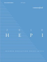 HEPI for 2010 - Commonfund