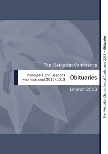 Obituaries - Methodist Conference