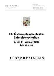 14. Österreichische Justiz- Skimeisterschaften ... - ZA Justiz