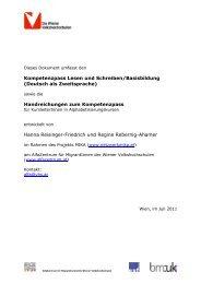 Kompetenzpass Lesen und Schreiben/Basisbildung - Netzwerk MIKA