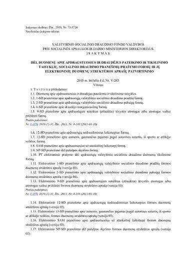 valstybinio socialinio draudimo fondo valdybos prie ... - Tax.lt