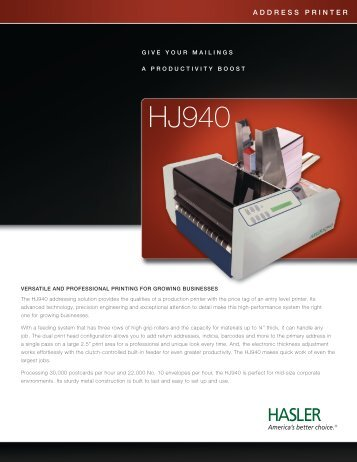 HJ940 - Neopost USA