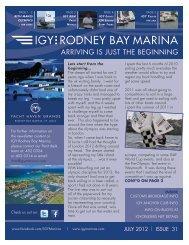 JULY 2012 | ISSUE 31 - IGY Rodney Bay Marina