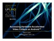 Accessing Hardware-Accelerated Video Codecs on Android™ - Uplinq