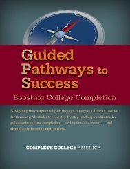 Guided Pathways to Success (GPS) - Complete College America